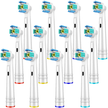 12 PCS 3D PRO White Toothbrush Heads for Oral B Toothbrush Heads Braun Oral B Brush Heads Compatible with Oral-B Toothbrush 4 pcs replacement toothbrush heads for oral b cross action toothbrush heads compatible with oral b braun toothbrush