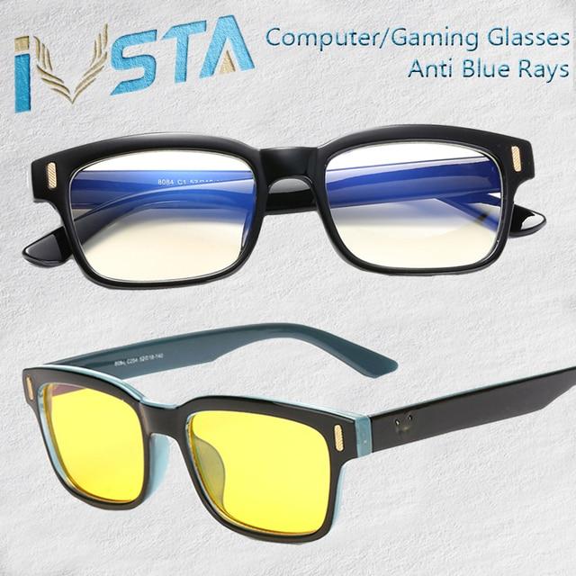 12e75e2fc7 IVSTA Anti Blue Rays Computer Glasses Men Blue Light Gaming Glasses  Protection Myopia Spectacles Prescription Optical