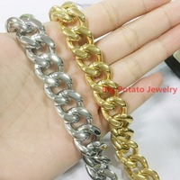 New Fashion High Quality 316L Stainless Steel 15mm Jewelry Cool Men S Necklace Chains 18 40