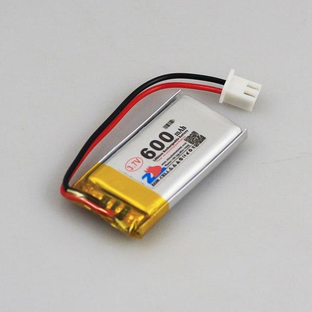 2 stks 3.7 v 600 mah ion batterij 602040 voor rijden recorder ...