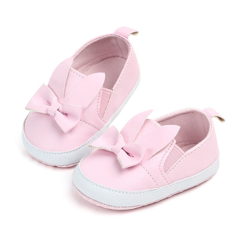 Baby Girl First Walkers Lovely Bow PU Princess Shoes Newborn Infant Anti-slip Crib Shoes Toddler Shoes
