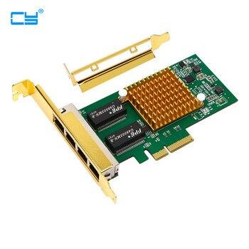 I350-T4 PCI-E x4 Server 4 Port RJ45 Gigabit Ethernet Intel i350t4 1000Mbps Network Card
