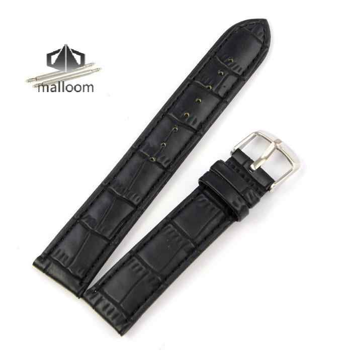 New Arrival 18mm 20mm 22mm Watchbands Genuine Leather High Quality Bracelet Watch Band Black / Brown Wholesale drop Shipping