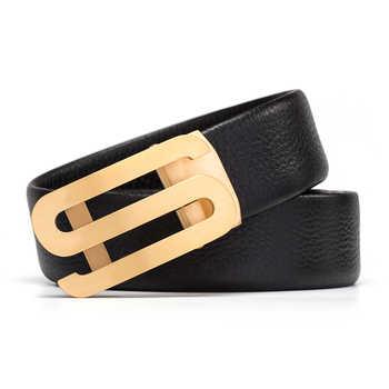 Genuine Leather Cowhide Automatic buckle Designer belt men\'s high quality Men Belt Luxury brand belt birthday present