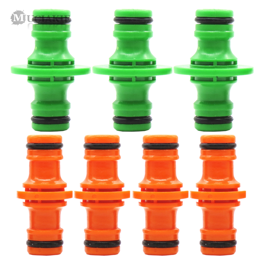 MUCIAKIE 5PCS 16mm 1/2'' Garden Hose Pipe Water Connector Joiner Quick Fix Coupler Double Port Joint Water Gun Fitting