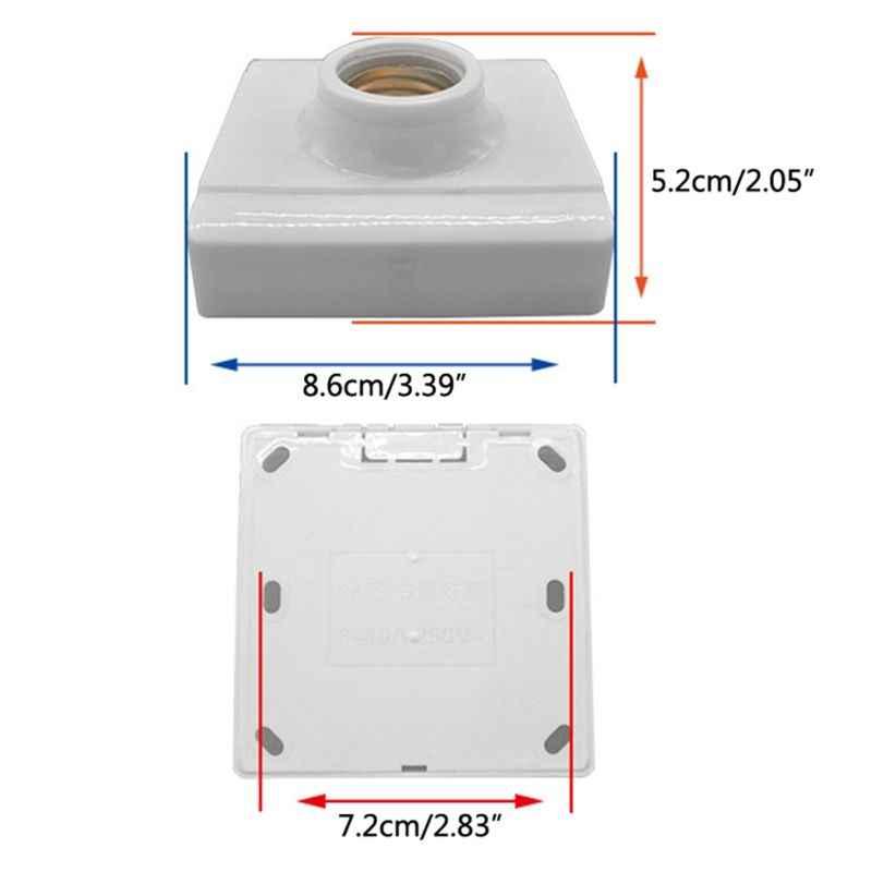 E27 Plastic Base Screw Light Bulb Lamp Ceramics Socket Holder Flame Retardant Durable Material Safe Non Electric leakage