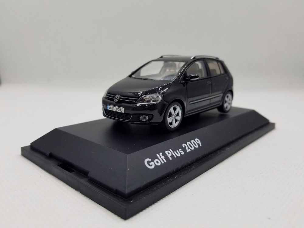 1:43 Diecast Model for Volkswagen VW Golf Plus 2009 Black Alloy Toy Car Miniature Collection Gifts