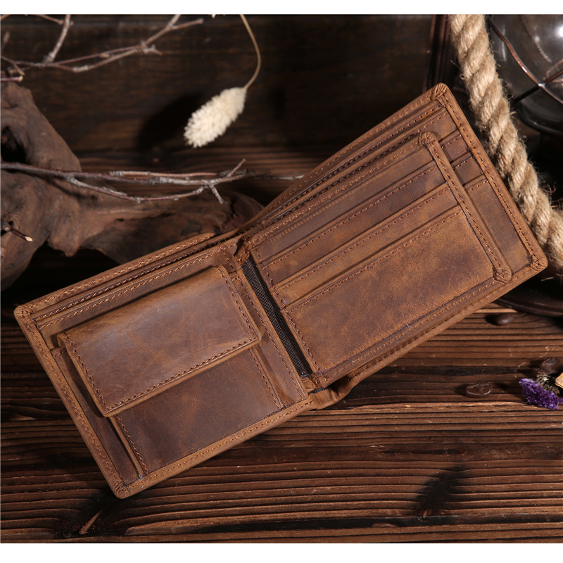Kingsons Man Wallets Cow Genuine Leather Short Purses Vintage Male Credit Card Holder Money Pouch Men's Coin Pocket Wallet Bag baellerry brand wallets men genuine cow leather hasp casual short black coin purses male wholesale money bags credit card holder