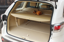 Car Styling!Beige Retractable Rear Cargo Trunk Cover For Toyota Highlander 2015 7 Seats