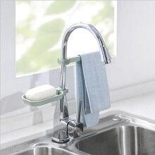 Clip-Shelf Sink Storage-Holder Dish-Cloth Sponge Dry-Towel-Organizer Kitchen-Accessory-Tool
