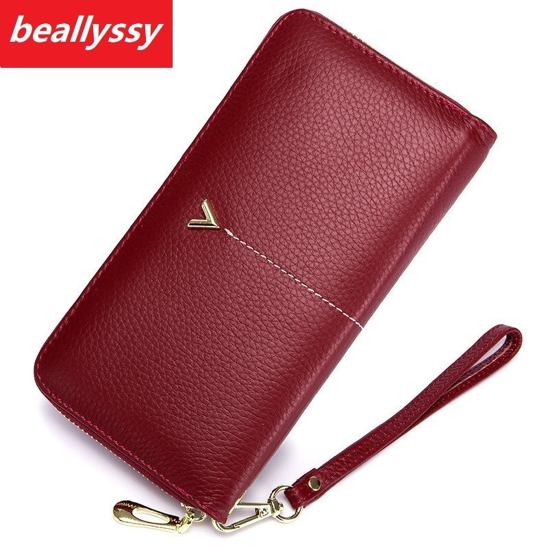 Luxury Brand female Womens Purse Long Fashion Clutch Leather Wallet High Quality Phone Key Card Holder Bag With Strap