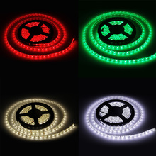 5m/Lot DC12V 60LEDS/M 5050 LED Strip IP20 Not Waterproof RGB Flexible Light Background Fixable