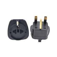 5PCS Universal Power Adapter Travel Adaptor 3 Pin UK Converter Embed EU German Italy Switzerland To Plug Singapore Hong Kong