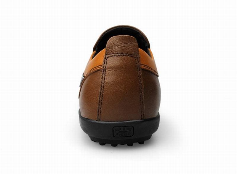 Respirant En Mode Mocassins brown De Hommes Cuir Confortable Appartements Qualité Zapatos Haute 100Véritable Conduite Orange Chaussures Sport gYbfyv76