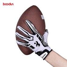 Мужские и женские перчатки для регби, дышащие противоскользящие силиконовые бейсбольные перчатки для американского футбола, походные перчатки