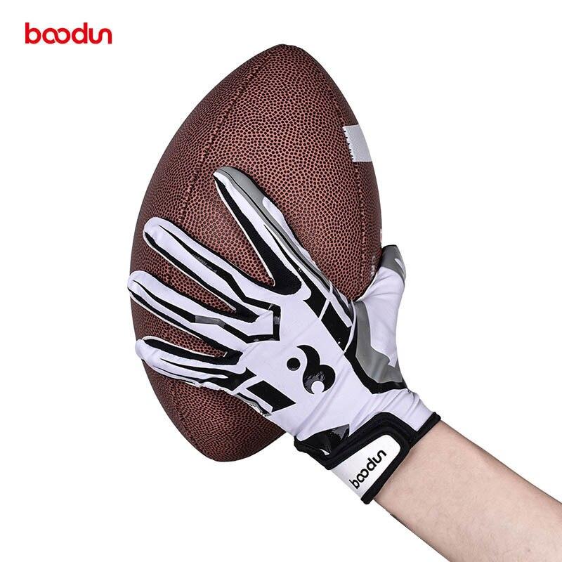 BOODUN Men Women Rugby Gloves Full Finger Breathable Anti-slip Silicone Baseball American Football Gloves Outdoor Hiking Gloves