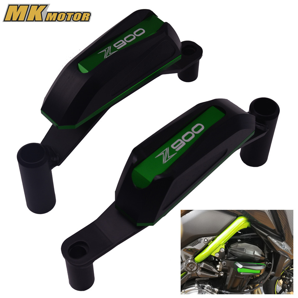 For Kawasaki Z900 2017 Frame Slider Motorcycle Accessoris Engine Guard Protector Case Saver Parts Z900 zoomer ruckus fi nps50 engine frame extend extension kit cables black motorcycle parts