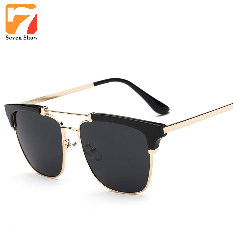 Fashion Sunglasses Men Women Brand Designer Sun Glasses Men Vintage Retro Twin Beam Shades Female font