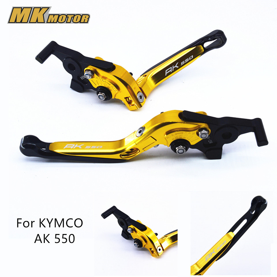 NEW 2017 Aluminum Brake Clutch Levers For KYMCO AK550 2017-2018With LOGO AK550 Motorcycle Brakes casual one shoulder sleeveless hollow out one piece women s swimwear