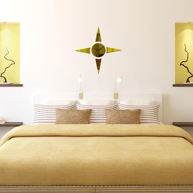 Acrylic  Wall clock 3d Modern Home decor