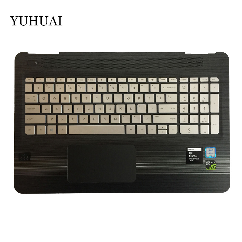 NEW English Keyboard for HP 15-bc051nr 15-bc047cl 15-bc060nr 15-bc006na 15-bc009na Laptop palmrest Upper Keyboard with backlight new us laptop keyboard for hp pavilion 15 ak engliah backlight with palmrest upper cover keyboard