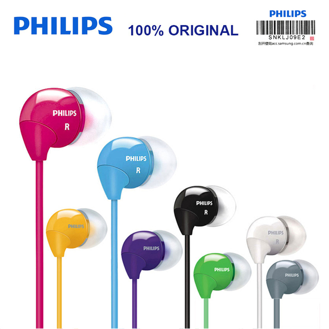 Philips SHE3590 Professional In Ear Earphone with Multi color selection Stereo Bass Earbuds Wired Headset for LG Official Test