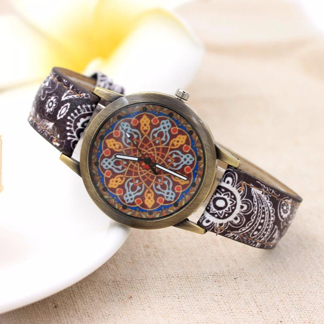 reloj mujer Arrival Women Watches Retro Faux Leather Band Analog Quartz Wrist Wa