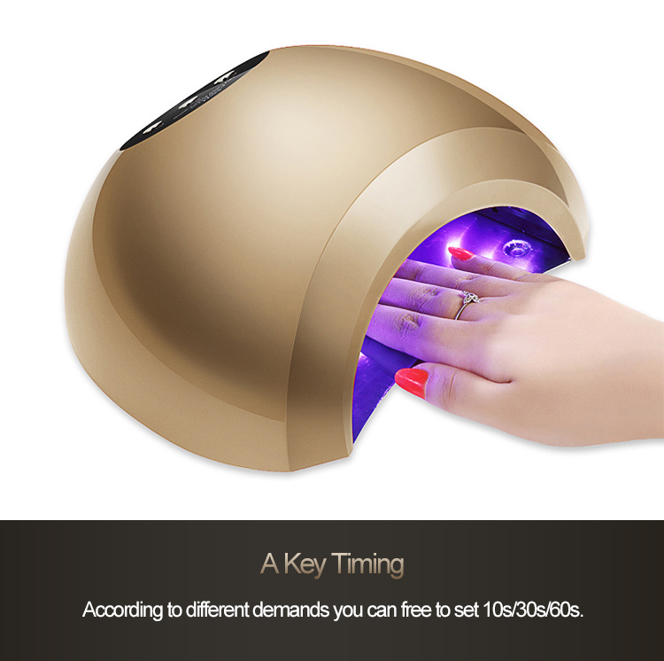 цена на High Quality Auto Motion 48W LED Lamps Nail Polish Dryer Manicure Seems Sunlight Double Light Faster Drying Nail Art Dryer