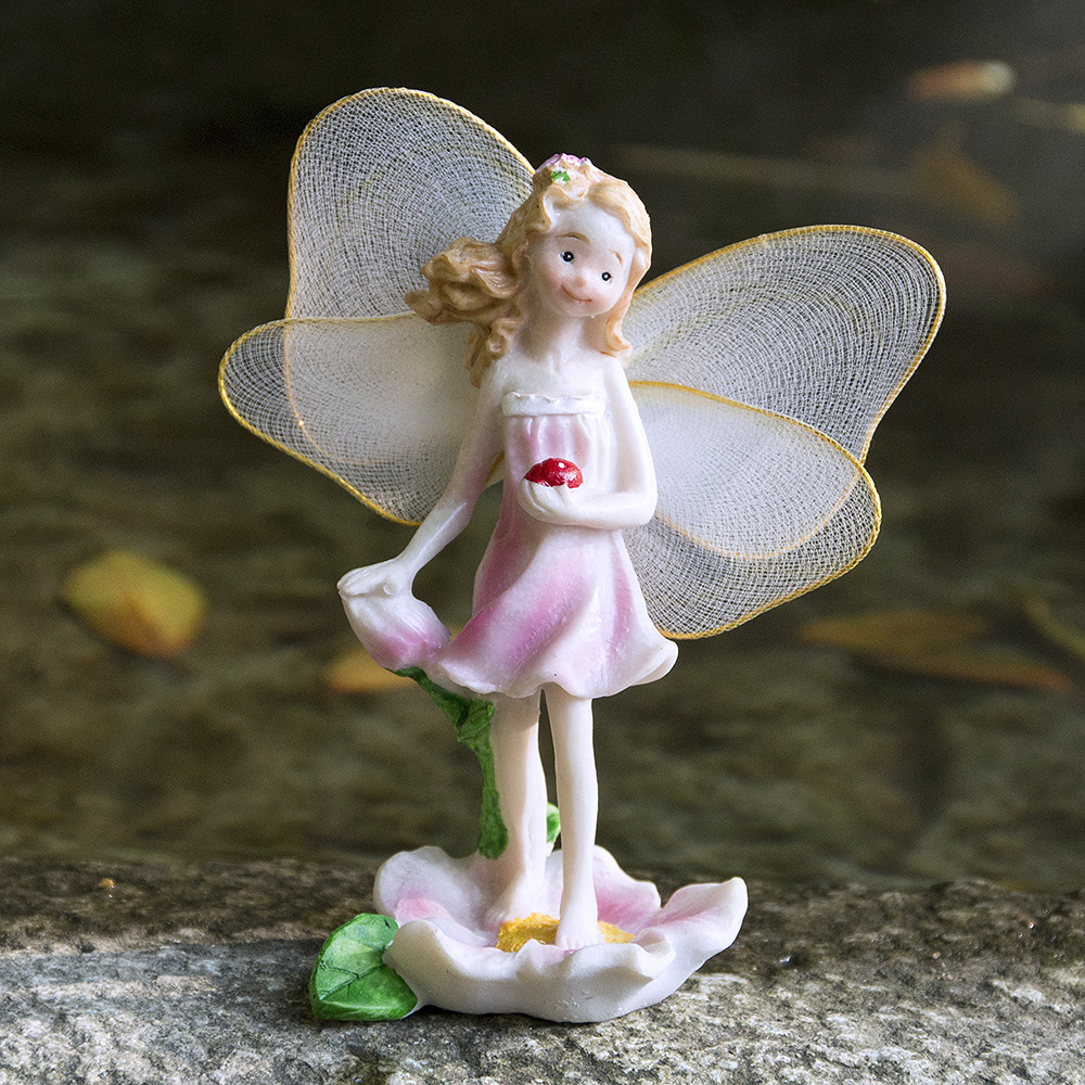 Micro Landscapes Flower Angels Resin Crafts Miniatures Fairy Garden ...