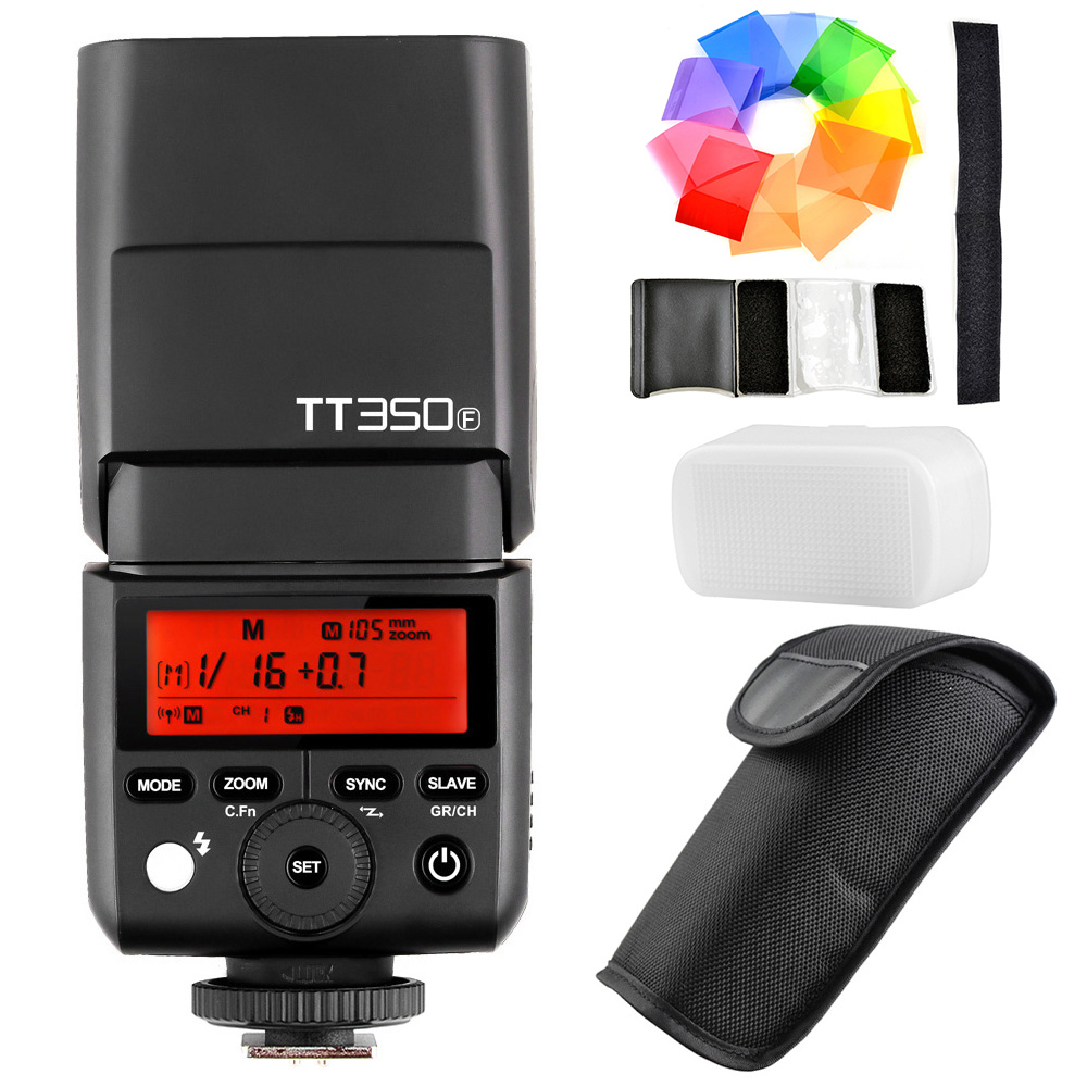 In Stock Godox TT350F for Fujifilm Mini Speedlite Camera Flash TTL HSS GN36 High Speed 1/8000S 2.4G Wireless X System for Fuji x transbots boosticus kit bek 01tk for tt briticus japanese version in stock