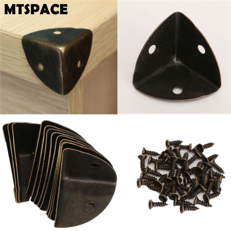 mtspace-12pcs-set-iron-decorative-antique-jewelry-wine-gift-box-wooden-case-corner-protector-guard-bronze-decorate-your-desk-box