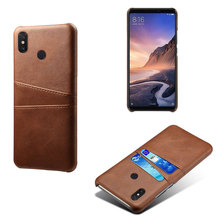 Luxury PU Leather Card Pocket Phone Case Cover For Xiaomi MAX3 Mi Play Classic Business Style Slim Back