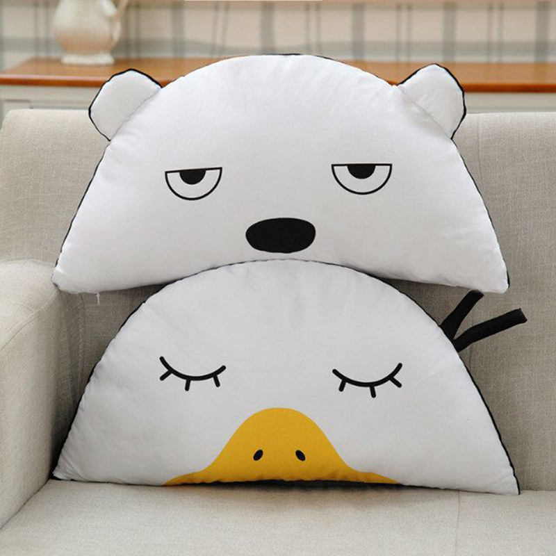 New Cute Duck shape pillow baby Appease Sleep doll Child Room decoration Cushion infant bed plush toys Christmas Gift 35*55cm