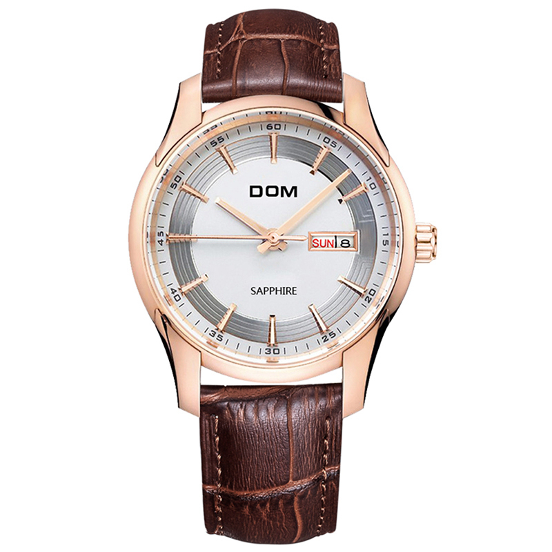 DOM Mens Watches Top Brand Luxury Sports Watch Quartz Clock Business Analog Wrist Watch Relogio Masculino Jewelry Watches