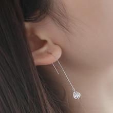 DIEERLAN Korean Water Earrings 925 Sterling Silver Drop Earrings for Women Statement Jewelry Brincos Pendientes bijoux