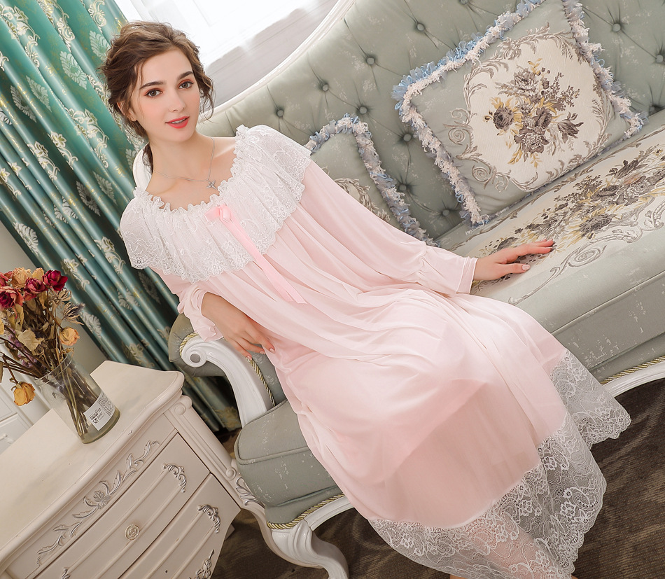 Convertible Slash neck Women Long Nightdress Autumn Sleepwear Bridesmaid Bathrobes   Nightgowns     Sleepshirts   Home Sleeping Dress