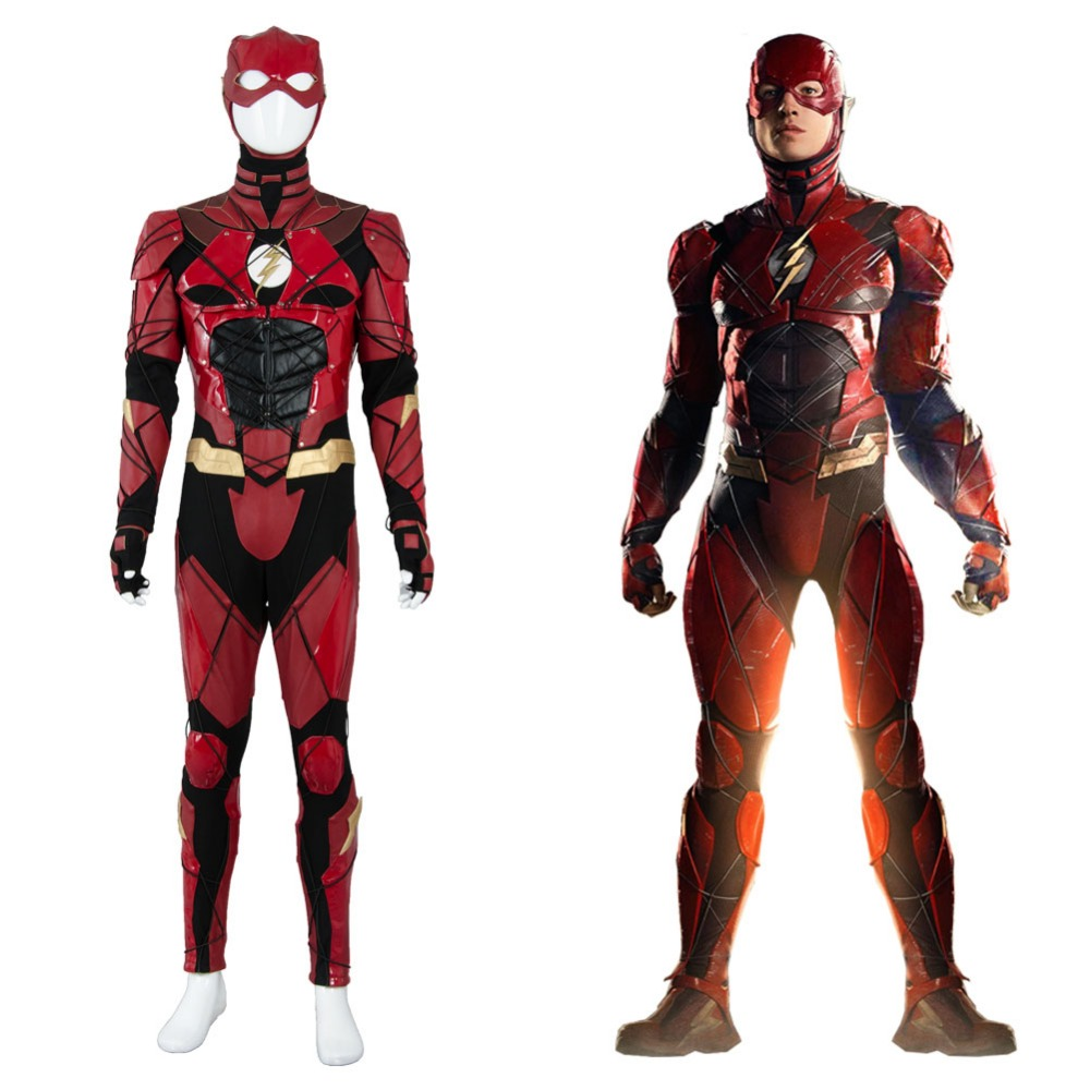 Justice League 2017 The Flash 2018 Movie Barry Allen Ezra Miller Cosplay Costume full set