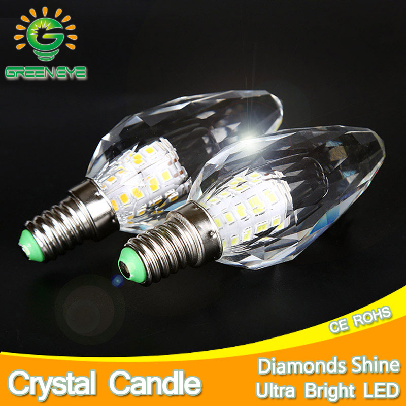 2pcs/lot DiamondsCutting Crystal LED Light Bulb Lamp Candle LED Bulb E14 7W 220V Cool Warm White Lampara Lampadina Ampoule Lampe enwye e14 led candle energy crystal lamp saving lamp light bulb home lighting decoration led lamp 5w 7w 220v 230v 240v smd2835