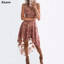 2018  summer beach Mesh embroidery dress party loose women Folk white short boho mini vestido Xnxee