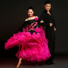 limited offer big wing flower modern dance performance dress woman long sleeves waltz tango ballroom Dance competition Costume