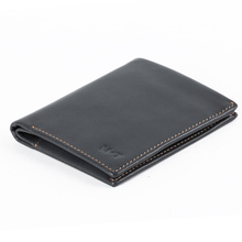 2016 Fashion New Leather Men Bifold Purse Black Color Bellroy Ultra Slim wallet with Coin Bag Invisible SD Card Bag