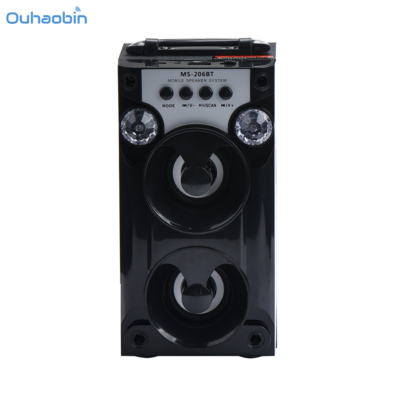 2017 HOT Bluetooth Speaker LED USB AUX TF FM Radio Portable Outdoor Speakers Wireless Super Bass Speaker High Quality Set1 goldbulous portable wireless bluetooth speaker 20w hifi bass pa speakers high quality home theater music player support tf aux
