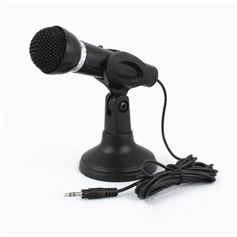 Haute Qualité Professionnelle Dynamique Unidirectionnel Microphone avec Support Clip pour Chant Karaoké Mic PC Portable Skype D'enregistrement