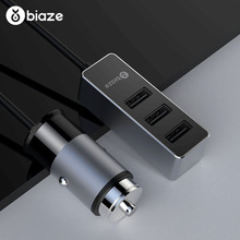 Biaze 1 5M 4 USB Car Charger For iPhone iPad Samsung Xiaomi Tablet Mobile Phone Charger 5V 5 5A Car USB Charger Fast Car-Charger cheap MEIZU APPLE Nokia Sony Motorola Other Blackberry Lenovo Huawei Universal RoHS MC17 Car Lighter Slot 5V 2 4A 12-24V 5A 5 5A Fast Charge Car Phone Charger