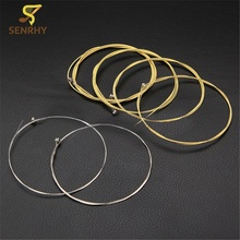 6pcs/lot Metal Steel Acoustic Guitar Strings E-A -D- G h(b) and e String 1 Meter Guitar Parts & Accessories Musical Instruments
