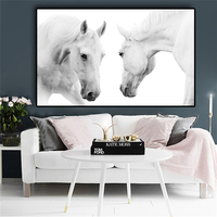 Horse Canvas Art Scandinavian Poster Print Wall Picture for Living Room
