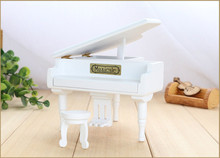 New White Wood Piano Music Box Home Decoration Creative Gifts for Princess Love Girl Valentine's Day Christmas Birthday gift