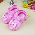 Delicate Hot Fashion New Kids Chlidren Newborn Bowknot Girl  Soft Sole Crib Toddler Shoes Canvas Sneaker Feb708