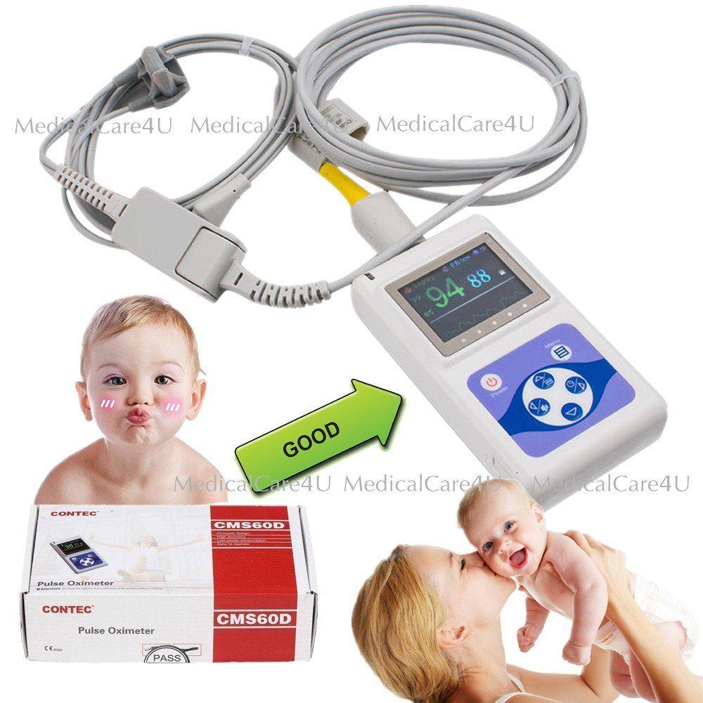 CONTEC CMS60D Infantil Neonatal Pediátrica Crianças Oxímetro de pulso Spo2 Monitor 24 Horas PC Software