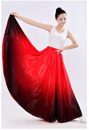 89e1a92e6 women Flamenco Dance Skirt spanish Dancing performance Costume for women  vestido flamenco 360 Degree